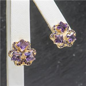 3.10 ctw Amethyst 14k Gold over SS $179.99