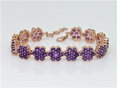 14.70 ctw amethyst Rose Gold bracelet $299