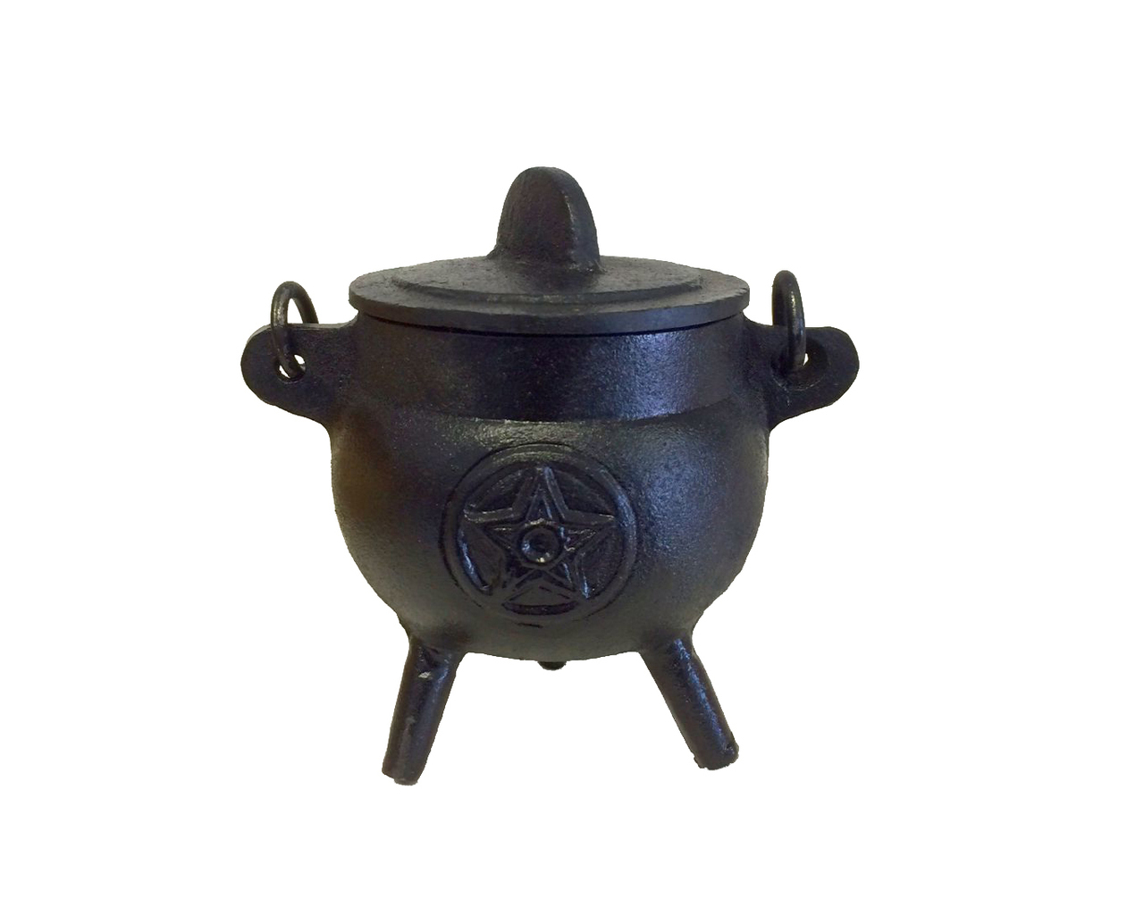 Cast Iron Cauldron Burner with Lid (Pentacle) $19.99
