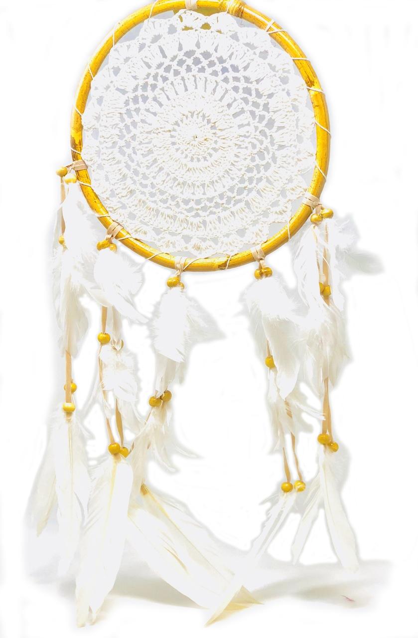 """8"""" diameter rattan (white crochet) $24.99"""