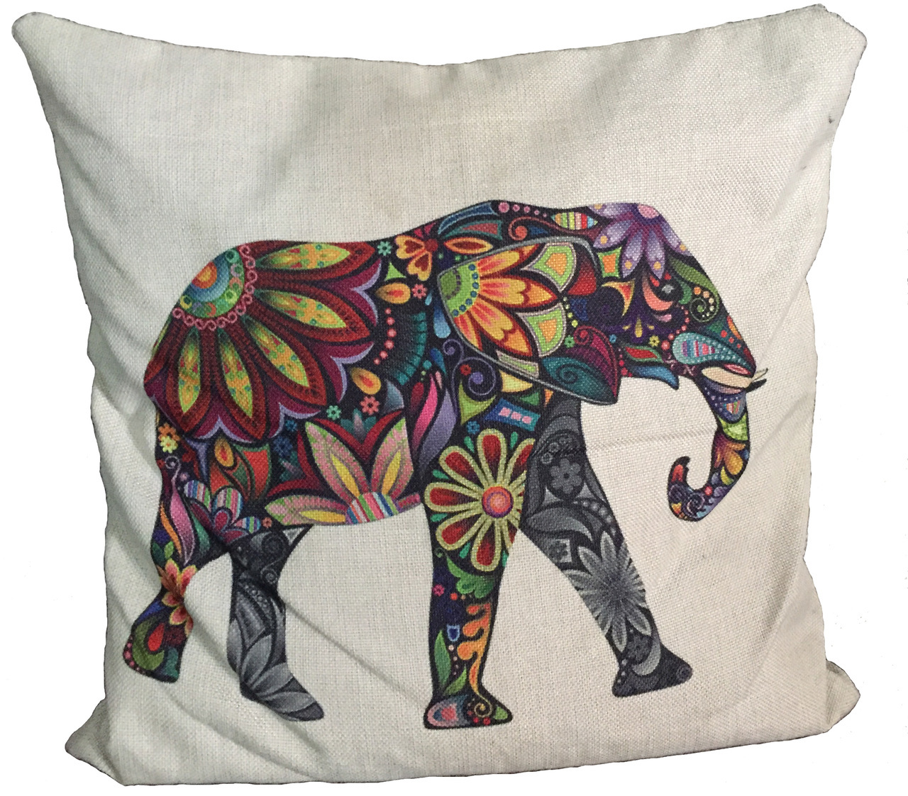 Elehphant Cushion Cover 16x16 $18.99