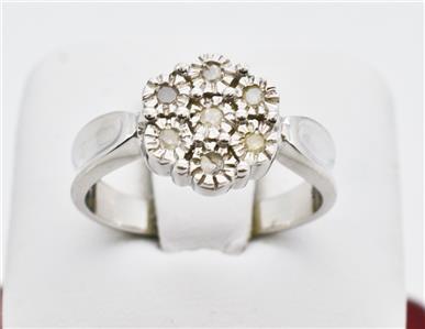 Vintage Styled .21ctw  H-I1 Diamond Sz7 SS $129.99