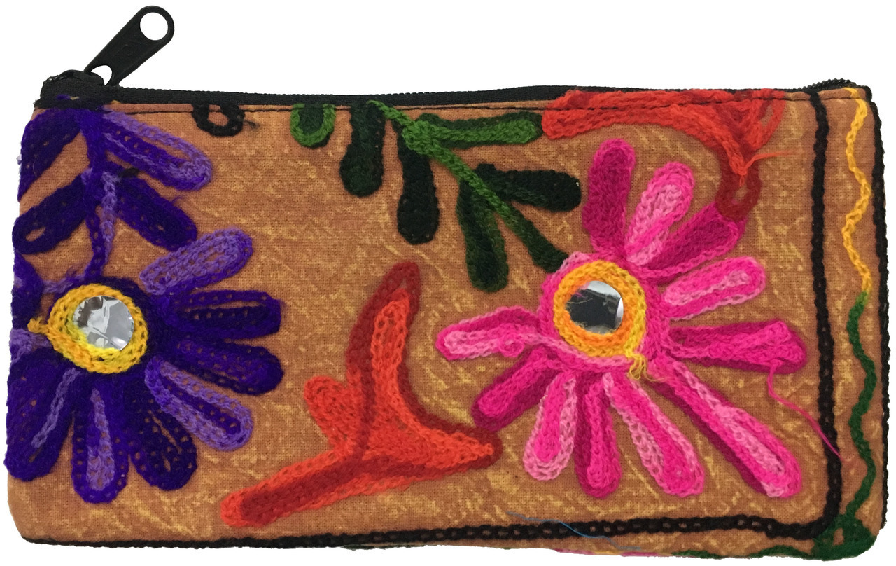 Hand Bag Cotton with Embroidery 8x4 $9.99