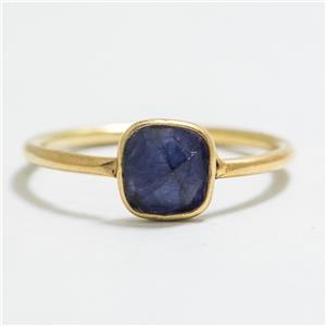 .80ctw Lapis Lazuli 14k Gold/SS Sz 5.75 $34.99