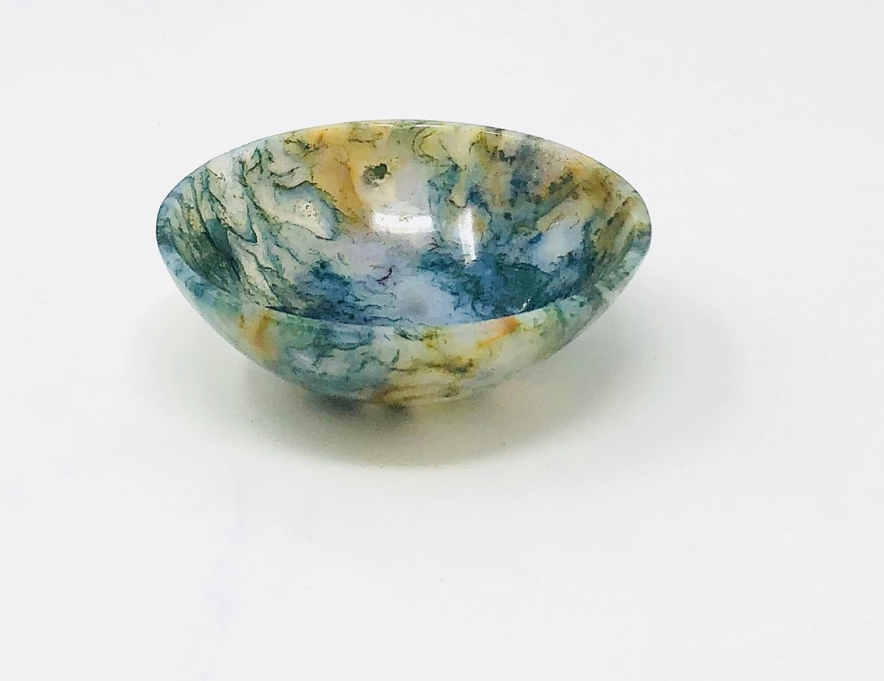 Moss Agate Offering Bowl $29.99
