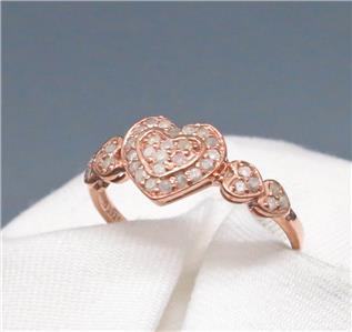 .75 ctw Diamond 14k Rose Gold/SS Sz7 $169.99