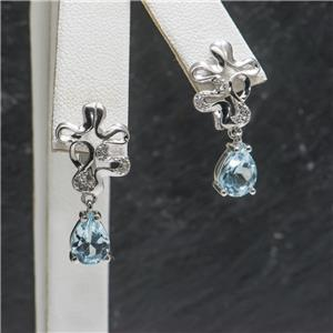 2.9 ctw Blue Topaz & Sapphire SS $75.96