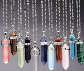 Pointed gemstone necklaces $12.99 each