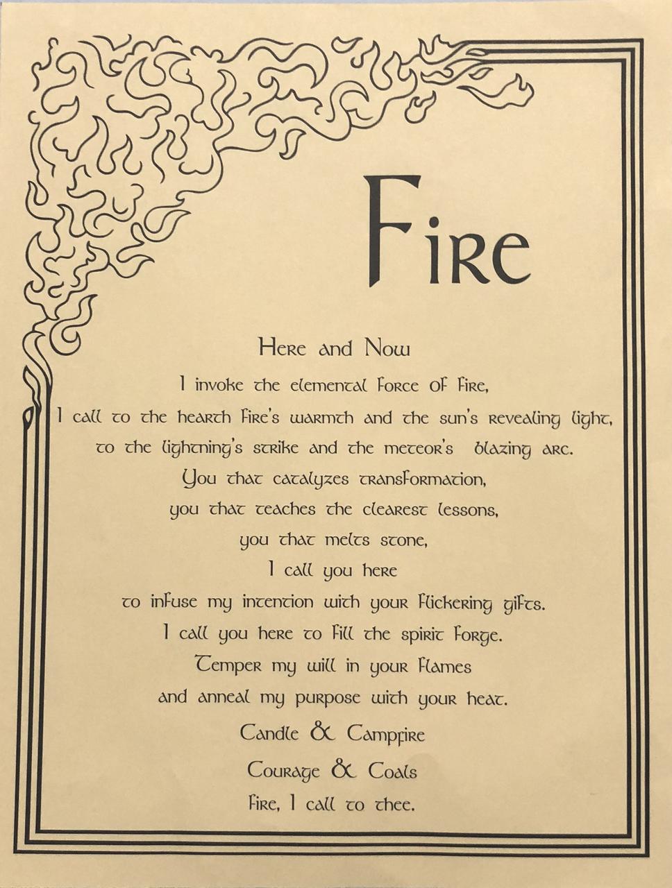 Prayer Poster Fire $4.99
