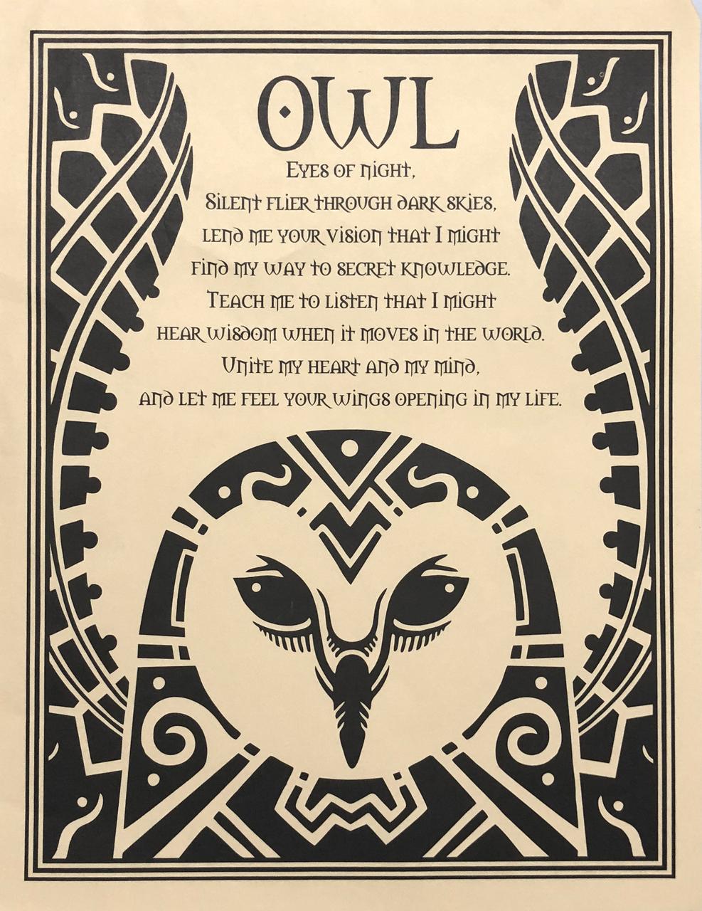 Prayer Poster Owl $4.99