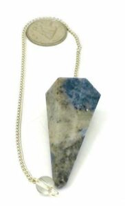 Sodalite Pointed Pendulum $9.00