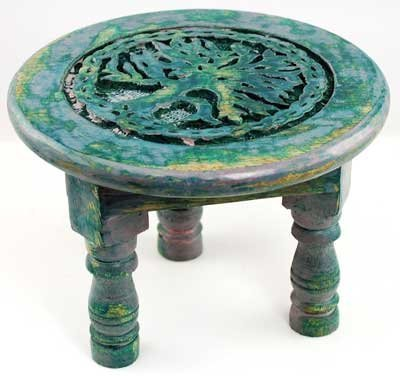 Wooden Alter Tree of Life Table $24.99