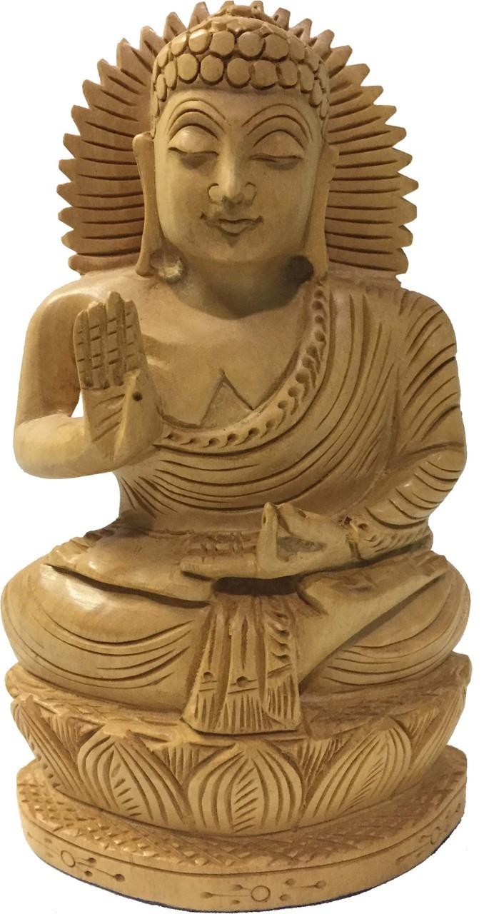 "Kadam Wood Buddha 6"""