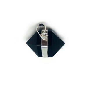 Black Obsidian Herkimer Double Point Necklace